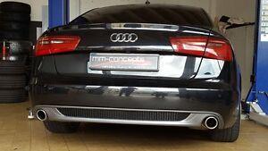 Diffusor für Audi A6 4G Spoiler Heckansatz Limousine Avant Gitter S-Line C7
