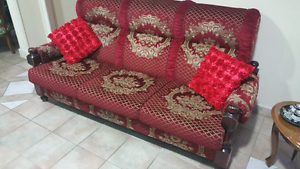 Lounge set - 3 seater + 2 single chairs Spring Farm Camden Area Preview