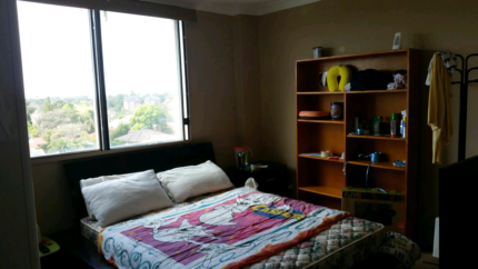 Fully furnished room, city view located next to Burwood Westfield