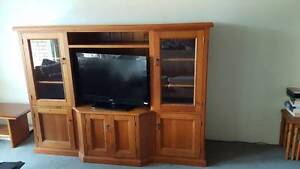 Pine TV cabinet in good condition- pick up 14/01 or 15/01 Lane Cove Lane Cove Area Preview