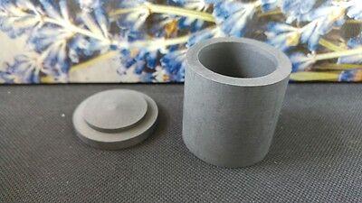 Graphittiegel 4 x 4 cm Schmelztiegel Graphite crucible Schmelzschale 60,5 g