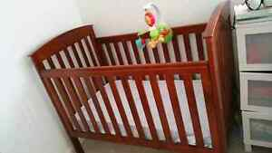 Babyco cot wooden brown with mattress $140 Officer Cardinia Area Preview
