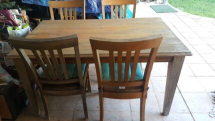 Wooden Dining Table 4 Chairs FOR SALE