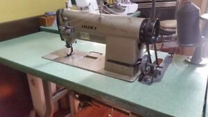 Used juki double needle industrial sewing machine