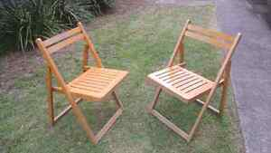 Foldable wooden chairs - x2 for FREE Oatley Hurstville Area Preview