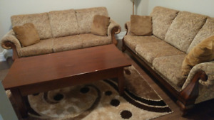 2 SOFAS AND COFFEE TABLE  FOR SALE