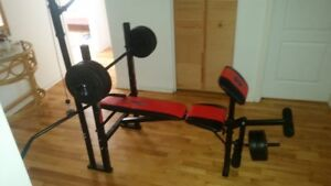 Bench with 80 lbs plates