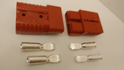 2pc Anderson Sb175 Connector Battery Terminals Plug Quick Connect