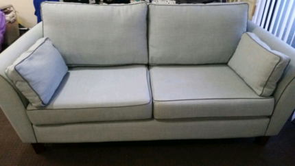 GORGEOUS POWDER LIGHT BLUE COUCH SET HARVEY NORMEN(10MNTHS OLDS)