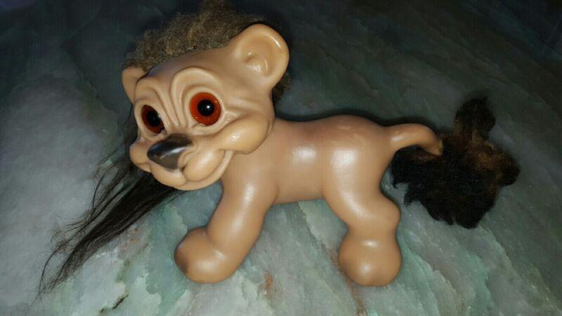 Rare Good Luck Vintage Gjol Troll Lion by Thomas DAM Denmark 1960s toy