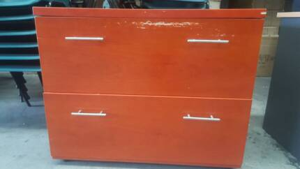 Wooden Filing Cabinet Office Work Storage Home Study Drawers