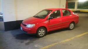 Red 2002 Toyota Echo
