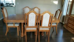 Dining Table and China Cabinet Set