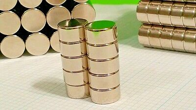 10 Large Neodymium N52 Disk Magnets. Super Strong Rare Earth 12 X 316