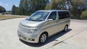 2002 Nissan Elgrand WITH TWIN SUNROOFS and roof mount screen Arncliffe Rockdale Area Preview