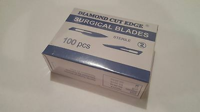 100 Surgical Scalpel Blades #22 Steel Sterile 25kGy Sterility Guaranteed ()