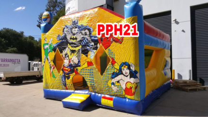 Justice league jumping castle hire