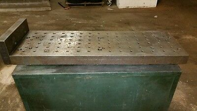 Precision Steel Cnc Sub Plate Subplate - 11 X 33 Mill Haas Squaring Bridgeport