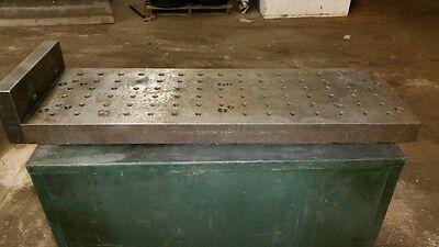 Precision Steel Cnc Sub Plate Subplate - 11 X 33 Mill Haas Squaring Bridgeport