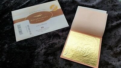 GoldGourmet 23k Edible Gold Leaf - 3¼