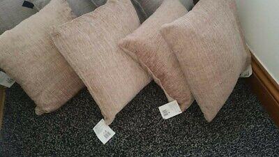 Bran New Luxury   gold cushions bundle   chenille  4× cushion