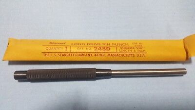 Vintage New Nos - Starrett 248d 516 8 Pin Punch - Hardware Store Closeout