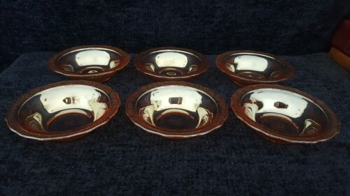 Set of 6 Federal Normandie Iridescent Marigold Dessert Fruit Bowls - Immaculate!
