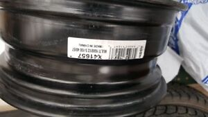 Winter rims 5x100 and winter tires 205/55/R16 - 90% new