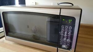 Black Stainless Steel Microwave 2months old