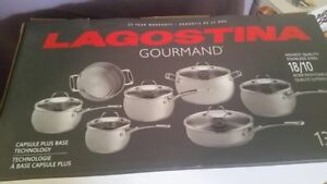 Lagostina 13 piece stainless steel cookware set