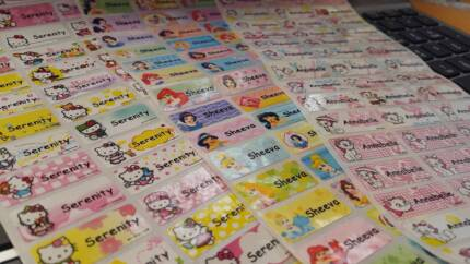 Print your own name Stickers **96 pcs just for $5 now! Sydney City Inner Sydney Preview