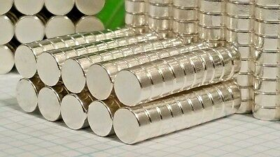100 Neodymium N52 Disk Magnets. Super Strong Rare Earth Magnets Pure Silver Ag