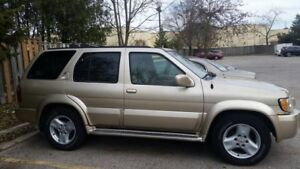 2001 INFINITI QX4 SUV, CERTIFIED AND ETESTED. $3,295.00
