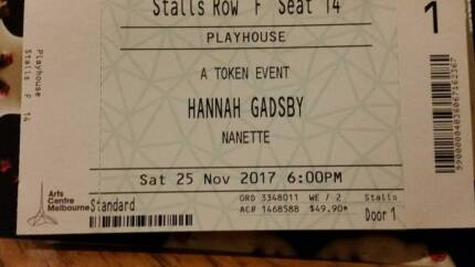 Swap Hannah Gadsby Tickets Melbourne, from Nov. 25