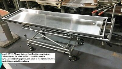 Jewitt Cct101 Morgue Autopsy Stretcher Gurney For Sale