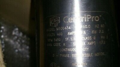 Centripro 4 Goulds M100434 Submersible Well Water 10hp Pump Motor 360-460v