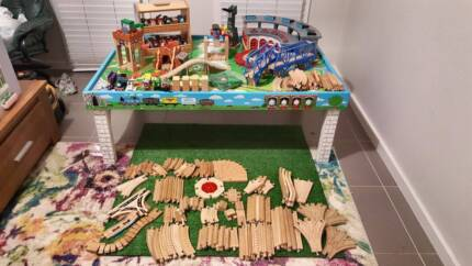 Thomas wooden train table with heaps of Accessories