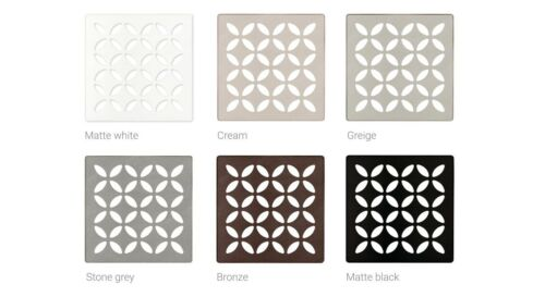 Schluter Kerdi Drain Grate: FLORAL: in Multiple Finishes