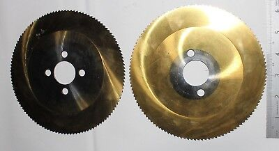 Cold Saw Slitting Blades Tin Coated 170mm Lot Of 2