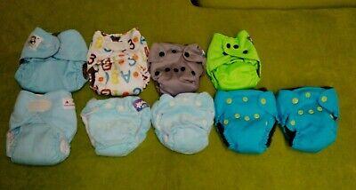 Newborn and small cloth diaper AIO Newbie Ncdc Coola baby Alva Mixed lot of 9