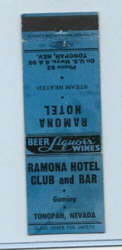 RAMONA HOTEL CLUB AND BAR 1940