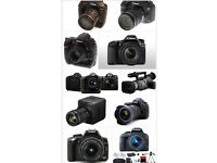Wanted proffesional photo cameras and lenses