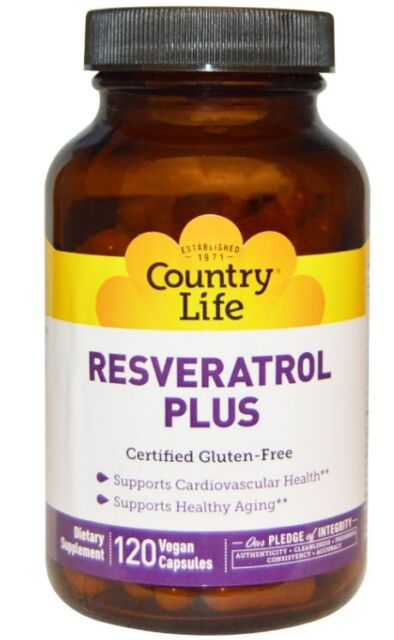 NEW COUNTRY LIFE RESVERATROL PLUS GLUTEN FREE CARDIOVASCULAR HEALTH SUPPORT CARE