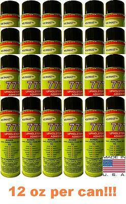 24 Cans 777 Speaker Box Carpet Fabric Liner Spray Glue Adhesive Instant Tack
