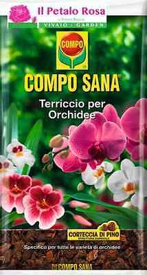 COMPO SANA TERRICCIO PER ORCHIDEE, TERRA, CORTECCIA DI PINO, SUBSTRATO 5 LT