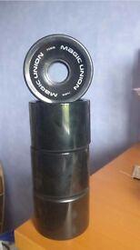 70mm Black Longboard Wheels