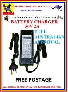 36V DC 36 Volt SLA  Battery Charger  Electric Scooter & Bicycle 3 pin XLR PLUG