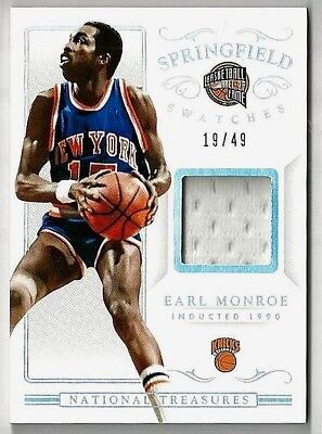 EARL MONROE '14-15 PANINI NATIONAL TREASURES SPRINGFIELD SW GAME USED JERSEY#/49 for sale  Kings Park