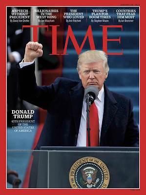 TIME Magazine January 30 2017 Donald Trump 45th President of USA NEW