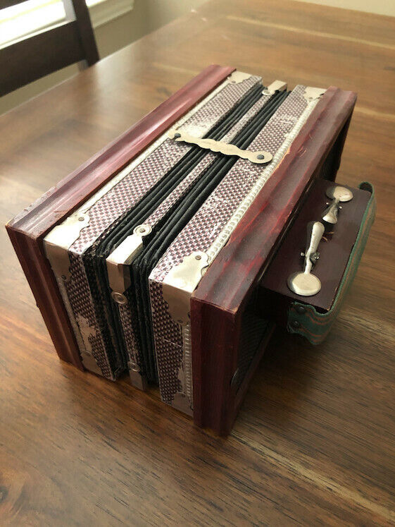 Antique Accordion Concertina Squeeze Box - German Manufacture (used)